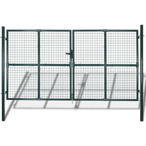 Hommoo Double Door Fence Gate Powder-Coated Steel VD04249