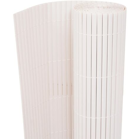 Hommoo Double-Sided Garden Fence 170x300 cm White QAH06553