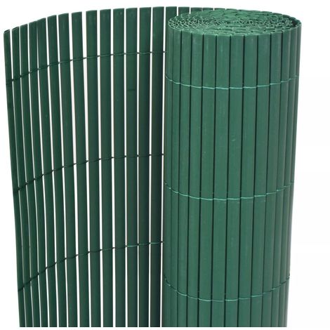 Hommoo Double-Sided Garden Fence PVC 150x300 cm Green