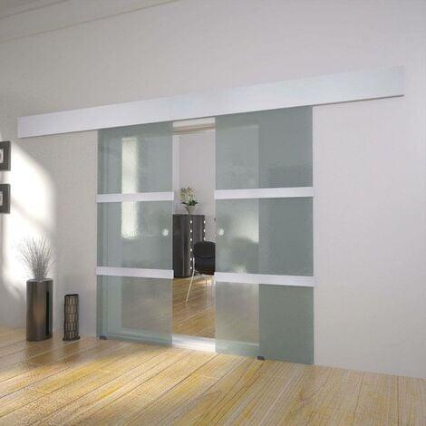 Hommoo Double Sliding Door Glass VD17114