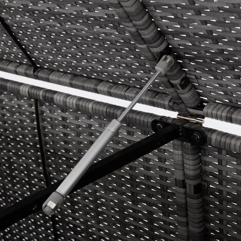 Hommoo Double Wheelie Bin Shed Poly Rattan Anthracite 148x77x111 cm QAH45532