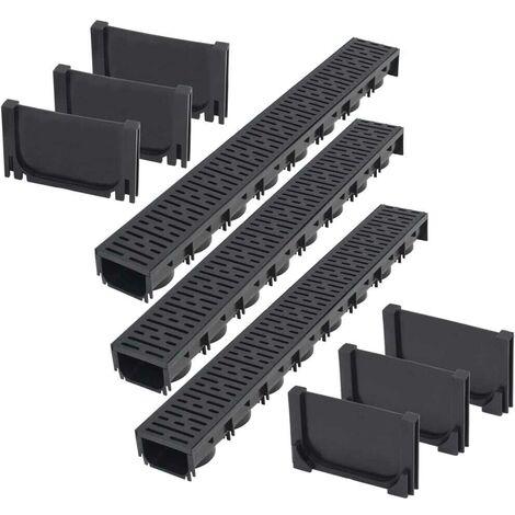 Hommoo Drainage Channels Plastic 3 m VD18396
