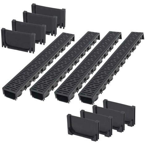 Hommoo Drainage Channels Plastic 4 m VD18397