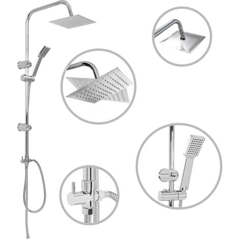 Hommoo Dual Head Shower Set with Hand Shower Stainless Steel QAH06404