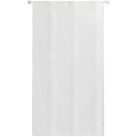 Hommoo écran de balcon en tissu Oxford 140 x 240 cm Blanc