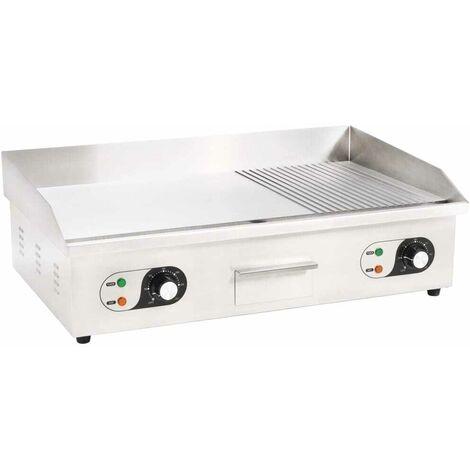Hommoo Elektrische Grillplatte Edelstahl 4400 W 73x51x23 cm VD30588