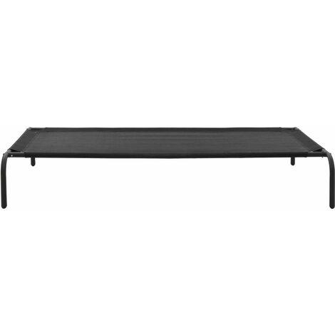 Hommoo Elevated Dog Bed Black XL Textilene QAH07219