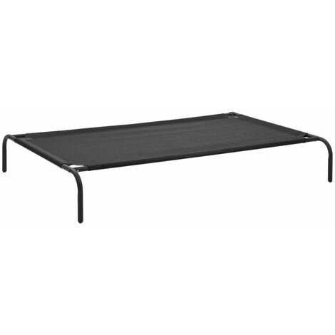 Hommoo Elevated Dog Bed Black XL Textilene VD07219