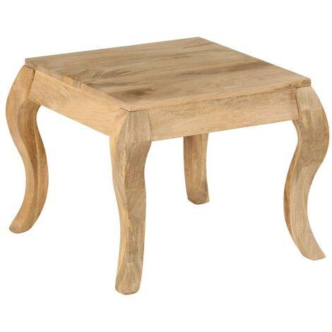 Hommoo End Table 45x45x40 cm Solid Mango Wood VD13026