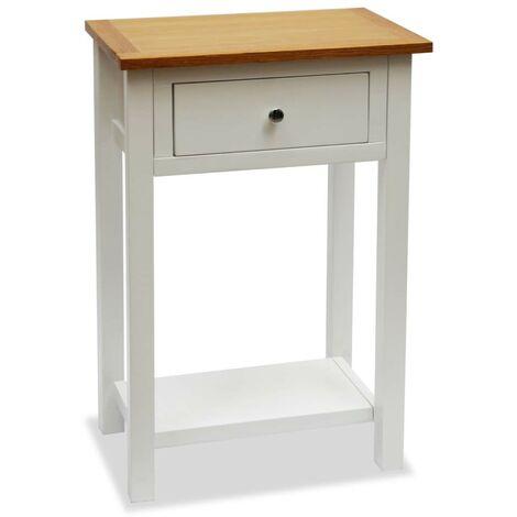 Hommoo End Table 50x32x75 cm Solid Oak Wood