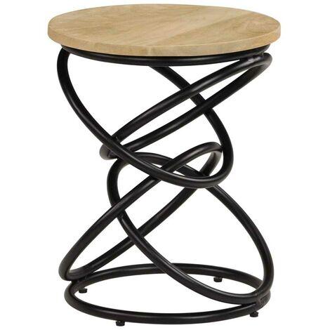 Hommoo End Table Solid Mango Wood 40x50 cm VD13204