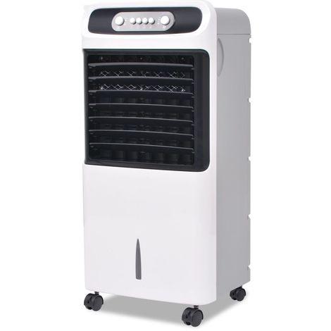 Hommoo Enfriador de aire portátil 80 W 12 L 496 m3 / h