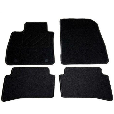 Hommoo Ensemble de tapis de voiture 4 pcs pour Renault Clio IV HDV01852