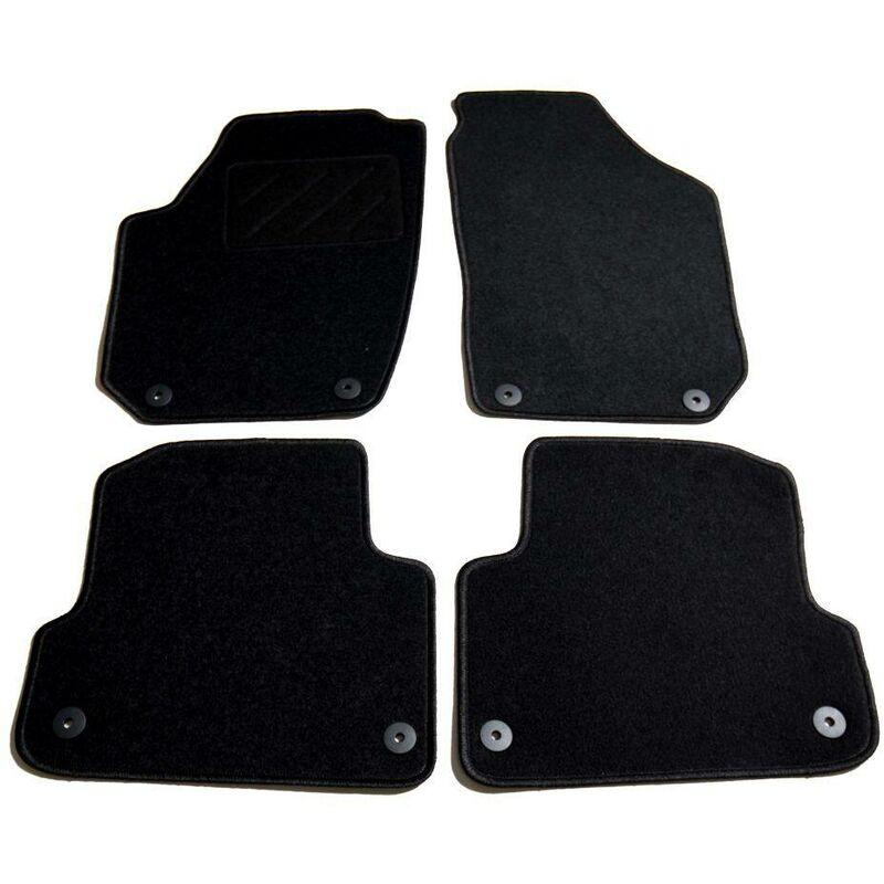 Ensemble de tapis de voiture 4 pcs pour Skoda Fabia II HDV01867 - Hommoo