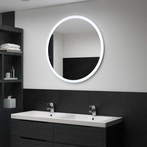 Hommoo Espejo de baño con LED 80 cm
