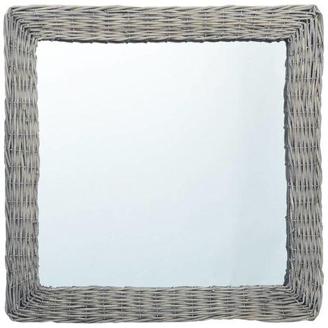 Hommoo Espejo de mimbre 60x60 cm