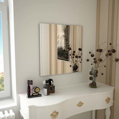 Hommoo Espejo de pared cuadrado vidrio 60x60 cm
