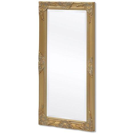 Hommoo Espejo de pared estilo barroco 100x50 cm dorado