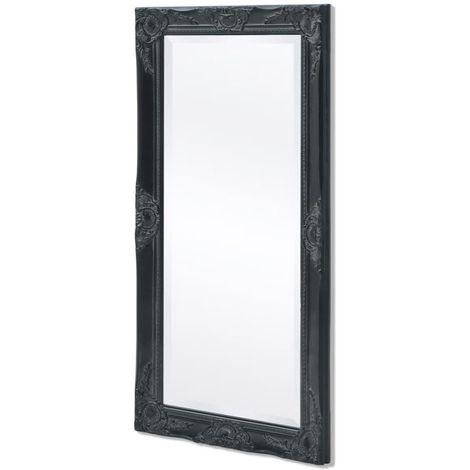 Hommoo Espejo de pared estilo barroco 100x50 cm negro