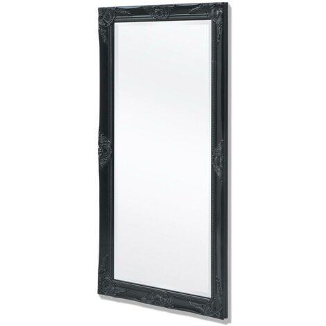 Hommoo Espejo de pared estilo barroco 120x60 cm negro