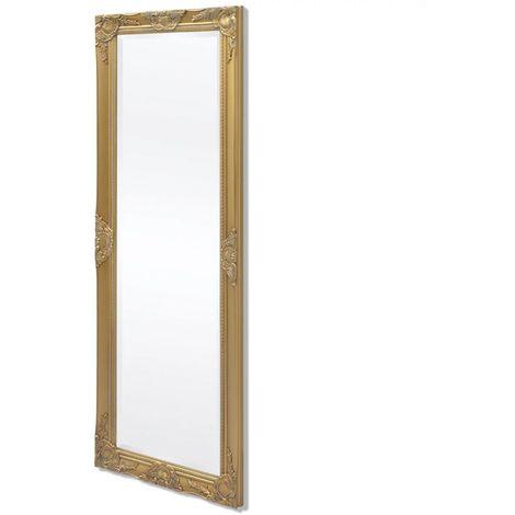 Hommoo Espejo de pared estilo barroco 140x50 cm dorado