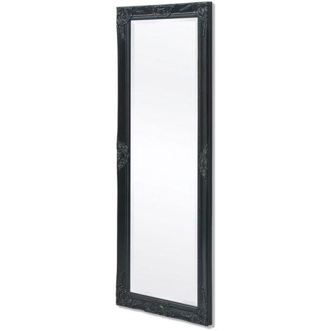 Hommoo Espejo de pared estilo barroco 140x50 cm negro