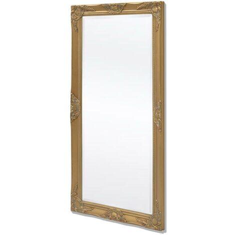 Hommoo Espejo de pared estilo barroco dorado 120x60 cm