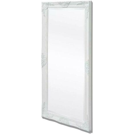 Hommoo Espejo de pared estilo barroco plateado 120x60 cm