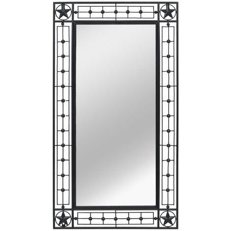Hommoo Espejo de pared rectangular 60x110 cm negro