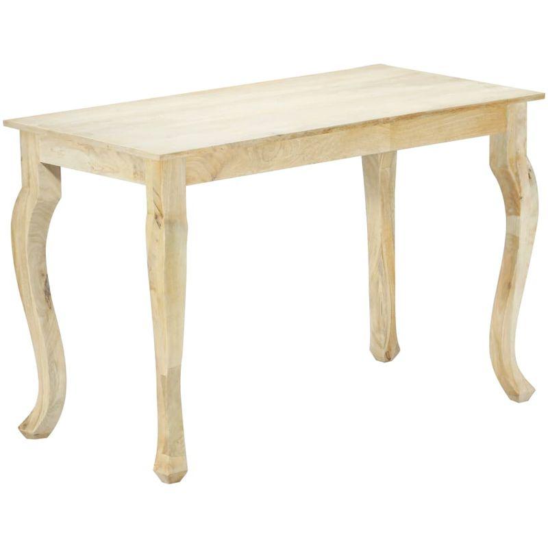 Esstisch 118x60x77 cm Massivholz Mango VD23923 - Hommoo