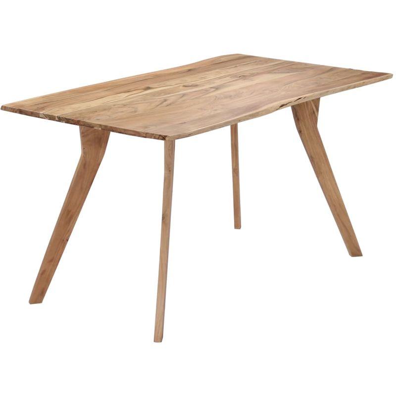Hommoo Esstisch 140 x 80 x 76 cm Massivholz Akazie VD13825