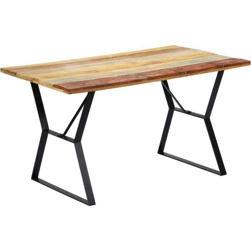Esstisch 140 x 80 x 76 cm Recyceltes Massivholz VD13797 - Hommoo