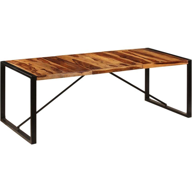 Hommoo Esstisch 220 x 100 x 75 cm Massivholz Sheesham VD13294