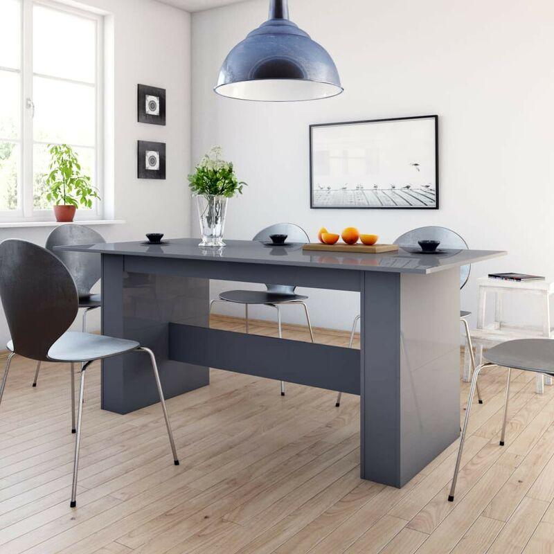 Hommoo Esstisch Hochglanz-Grau 180 x 90 x 76 cm Spanplatte VD31505