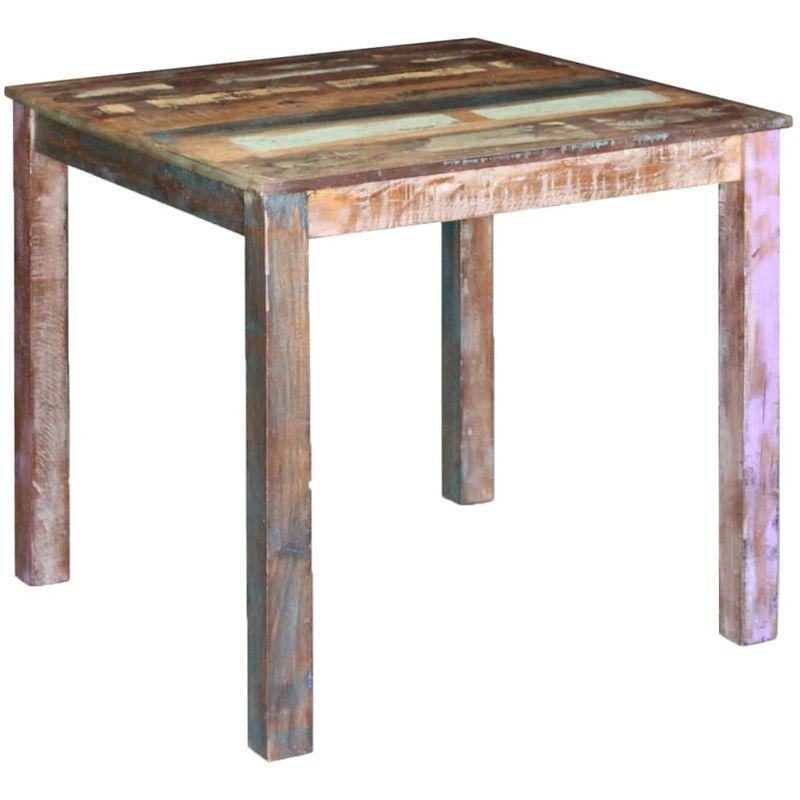 Esstisch Recyceltes Massivholz 80x82x76 cm VD09808 - Hommoo