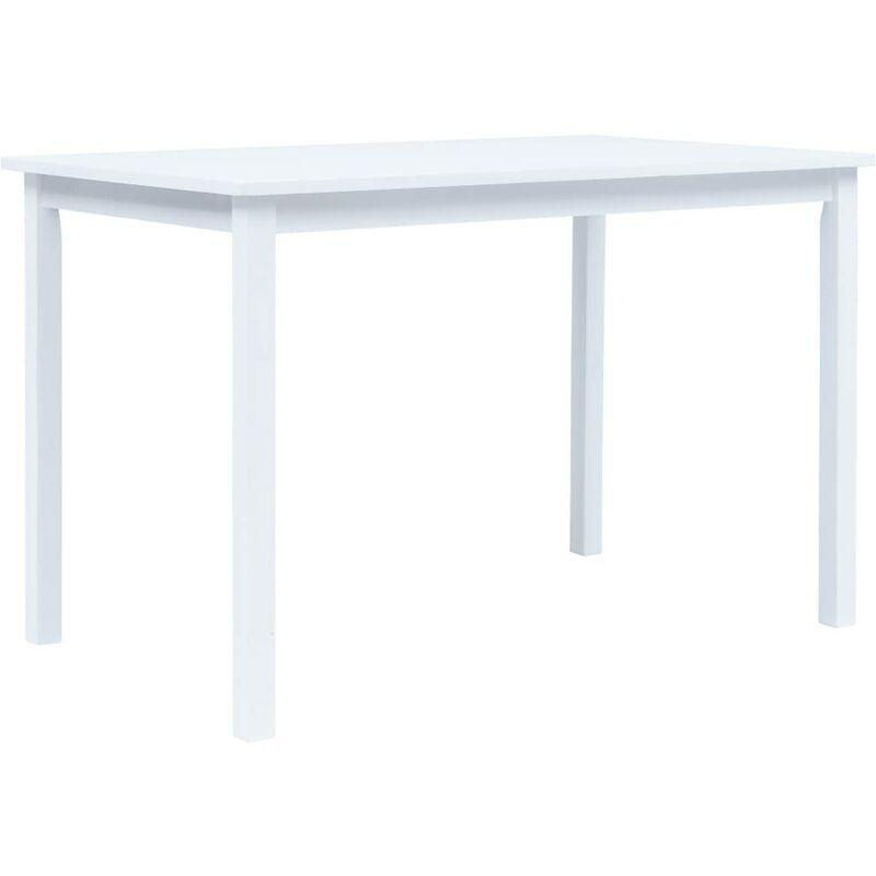 Esstisch Weiß 114x71x75 cm Gummiholz Massiv VD13246 - Hommoo