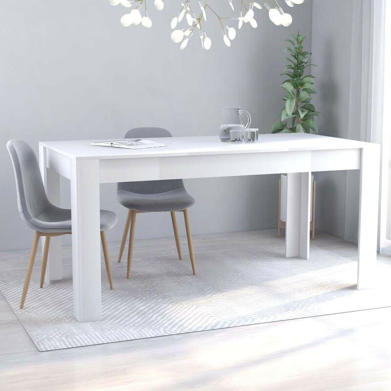 Esstisch Weiß 160x80x76 cm Spanplatte VD47479 - Hommoo