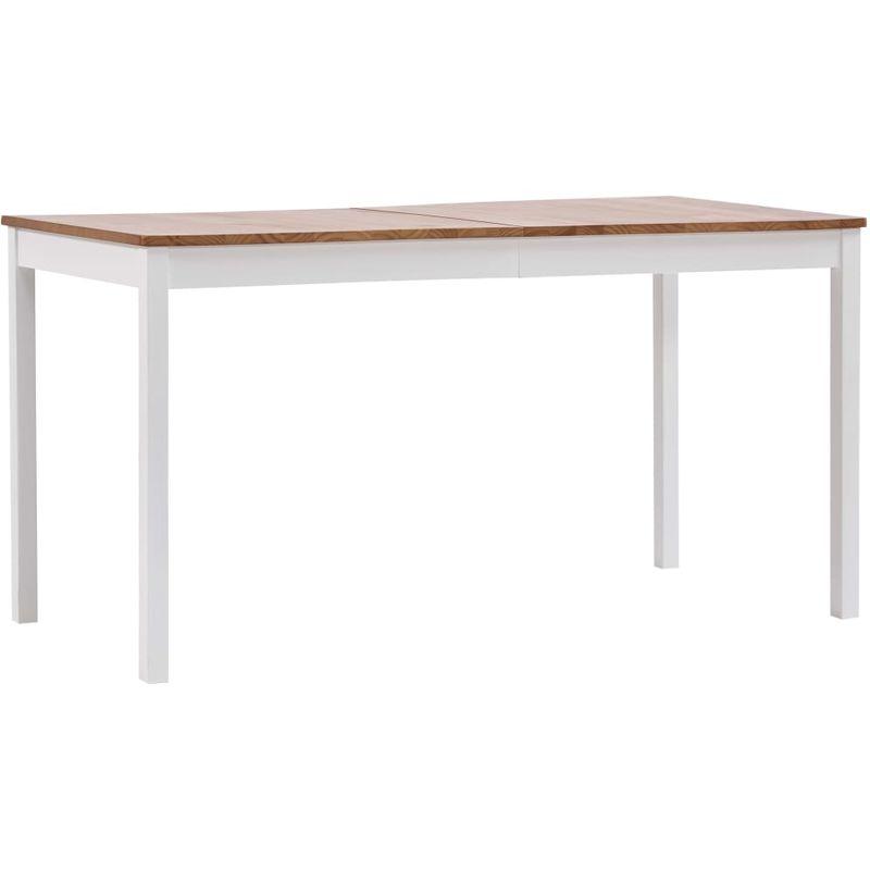 Esstisch Weiß und Braun 140 x 70 x 73 cm Kiefernholz VD24247 - Hommoo