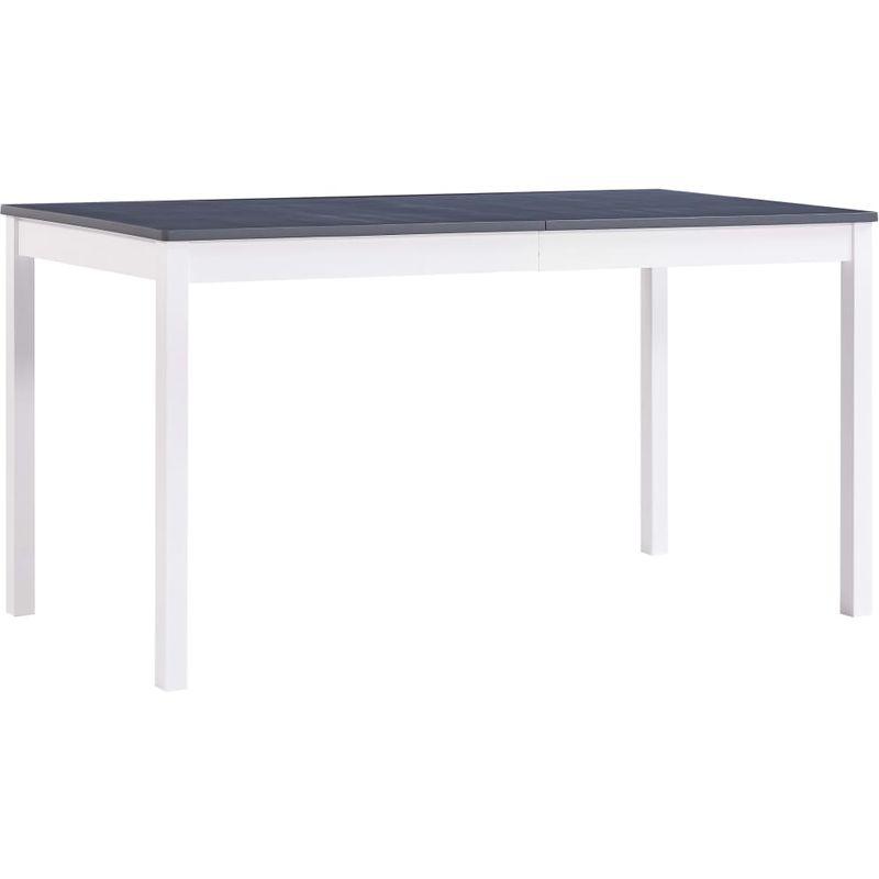 Esstisch Weiß und Grau 140 x 70 x 73 cm Kiefernholz VD24245 - Hommoo