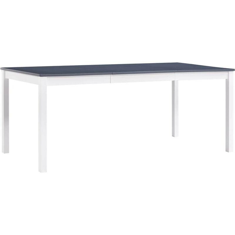 Hommoo Esstisch Weiß und Grau 180 x 90 x 73 cm Kiefernholz VD24251