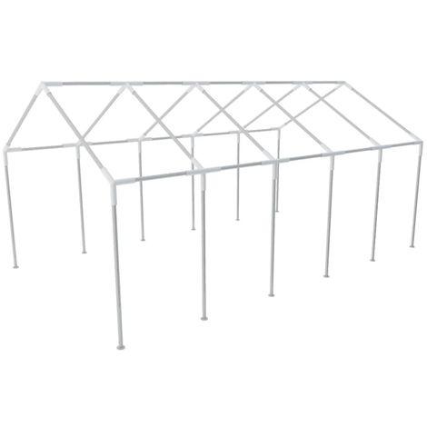 Hommoo Estructura de carpa de fiesta de jardín acero 10x5 m