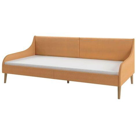 Hommoo Estructura de sofá cama tela naranja