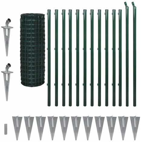 Hommoo Euro Fence Steel 25x1.2 m Green QAH04511