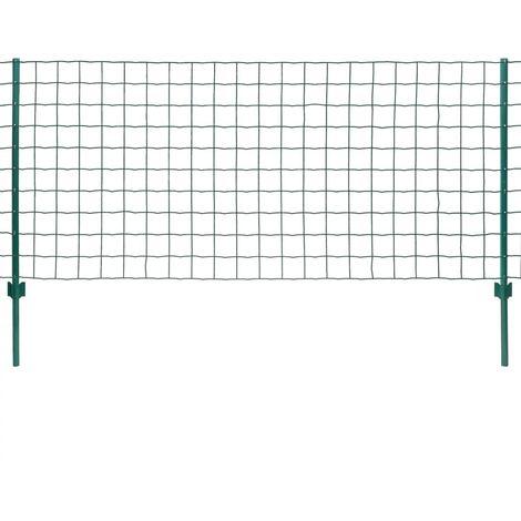 Hommoo Euro Valla de acero verde 20x0,8 m