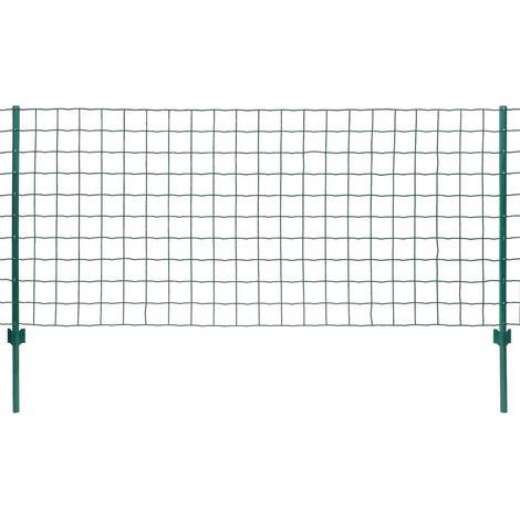 Hommoo Euro Valla de acero verde 20x1,2 m