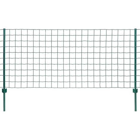 Hommoo Euro Valla de acero verde 20x1,5 m