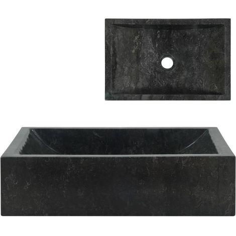 Hommoo évier 45 x 30 x 12 cm Marbre Noir