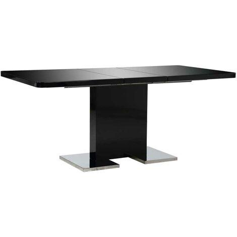 Hommoo Extendable Dining Table High Gloss Black 180x90x76 cm MDF