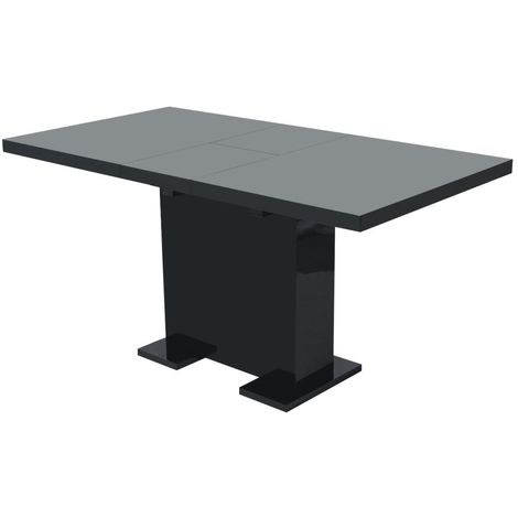 Hommoo Extendable Dining Table High Gloss Black