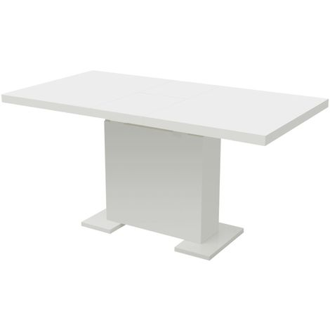 Hommoo Extendable Dining Table High Gloss White